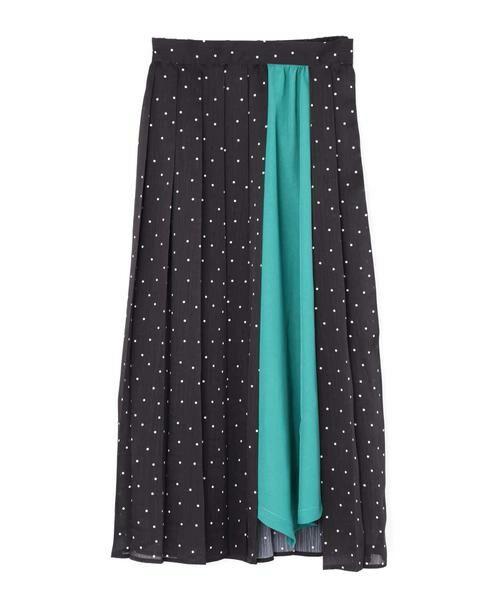 ROSE BUD / ローズ バッド スカート | プリントプリーツスカート(ブラック)