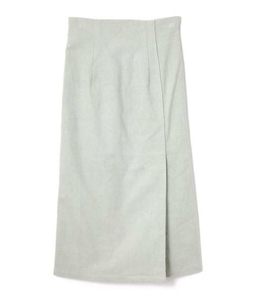 ROSE BUD / ローズ バッド スカート | コーデュロイタイトスカート(ライトグリーン)
