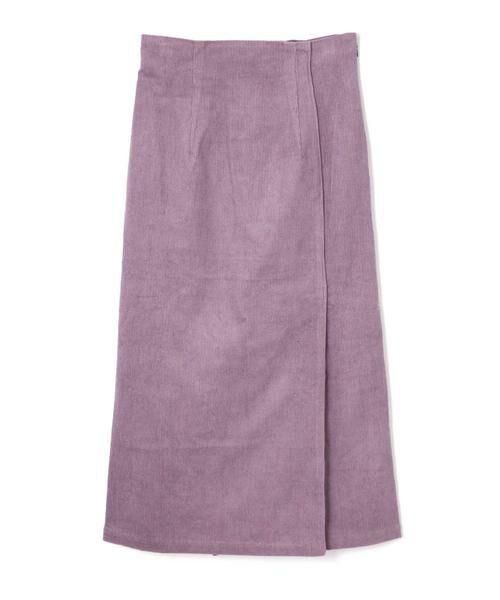 ROSE BUD / ローズ バッド スカート | コーデュロイタイトスカート(パープル)