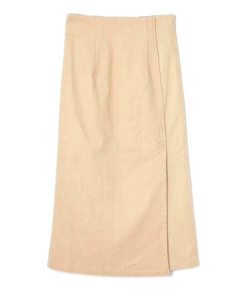 ROSE BUD / ローズ バッド スカート | コーデュロイタイトスカート(ベージュ)