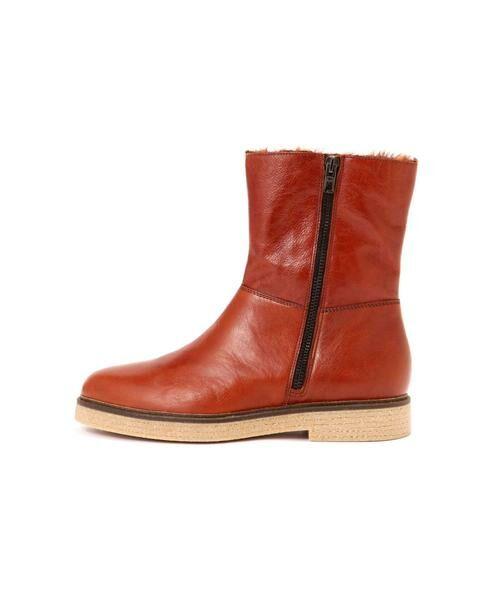 ROSE BUD / ローズ バッド ブーツ(ショート丈) | 2wayミドル丈レザーブーツ(ブラウン1)