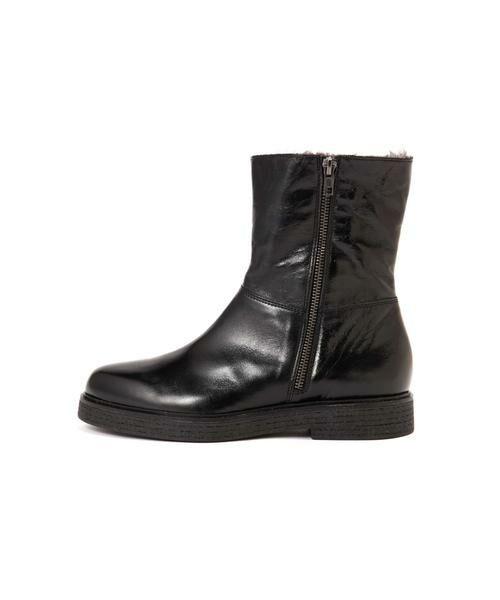 ROSE BUD / ローズ バッド ブーツ(ショート丈) | 2wayミドル丈レザーブーツ(ブラック1)
