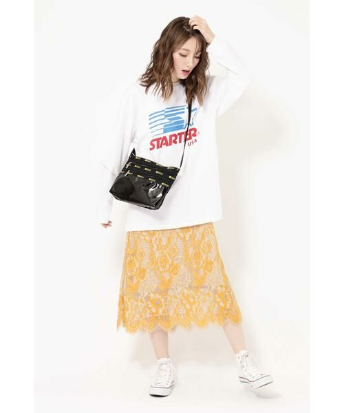 ROSE BUD / ローズ バッド スカート | 配色カラーレーススカート | 詳細1