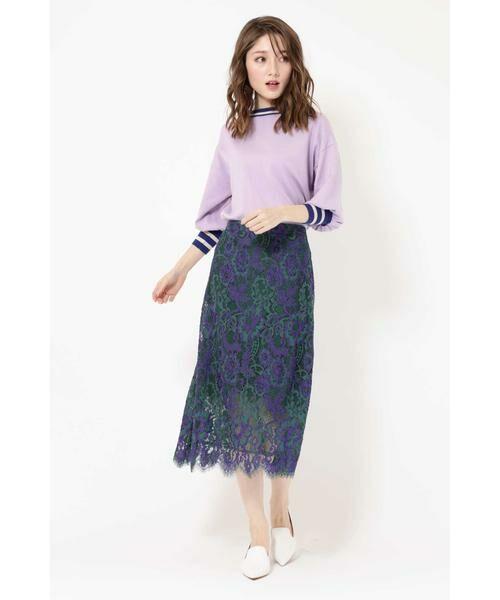 ROSE BUD / ローズ バッド スカート | 配色カラーレーススカート | 詳細4
