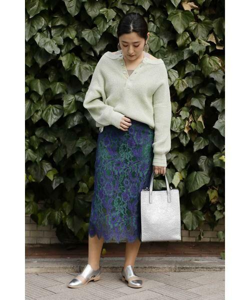 ROSE BUD / ローズ バッド スカート | 配色カラーレーススカート | 詳細15