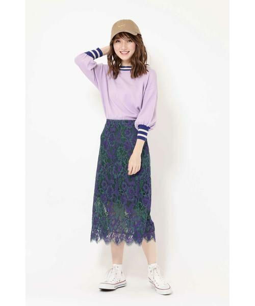 ROSE BUD / ローズ バッド スカート | 配色カラーレーススカート | 詳細5