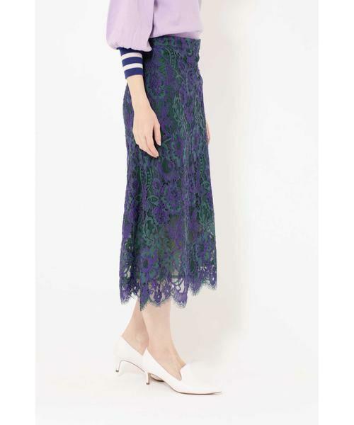 ROSE BUD / ローズ バッド スカート | 配色カラーレーススカート | 詳細7