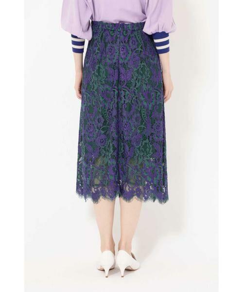 ROSE BUD / ローズ バッド スカート | 配色カラーレーススカート | 詳細8