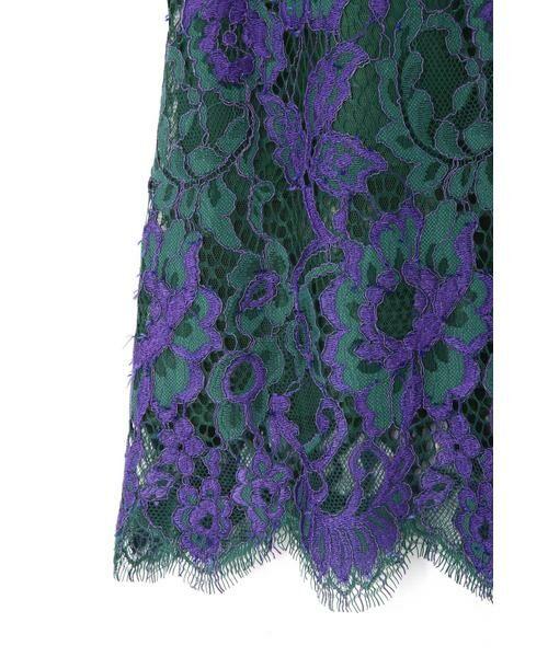 ROSE BUD / ローズ バッド スカート | 配色カラーレーススカート | 詳細10