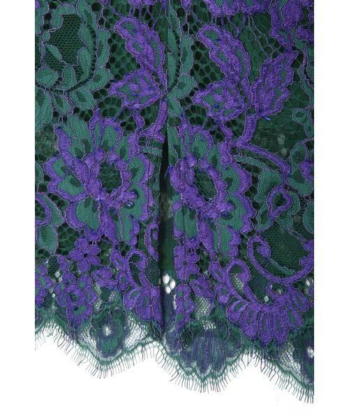 ROSE BUD / ローズ バッド スカート | 配色カラーレーススカート | 詳細12