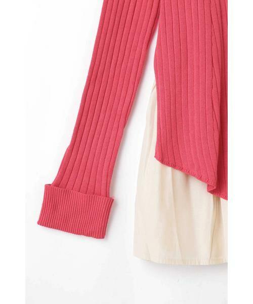 ROSE BUD / ローズ バッド ニット・セーター | レイヤードリブニット | 詳細7