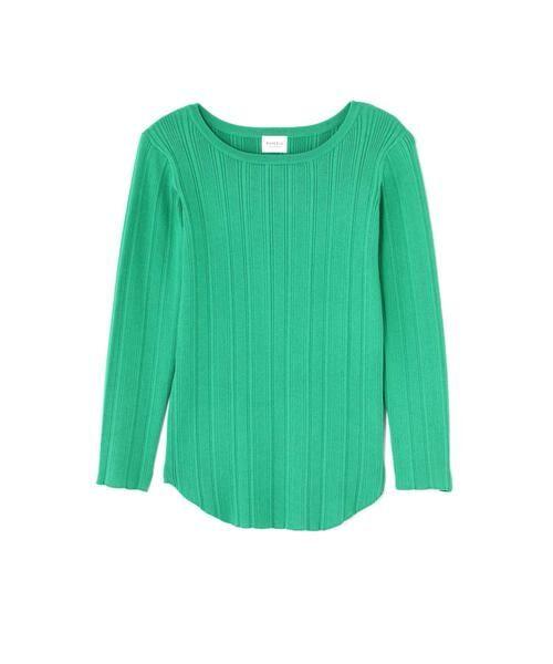 ROSE BUD / ローズ バッド ニット・セーター | ベーシックリブトップス(グリーン)
