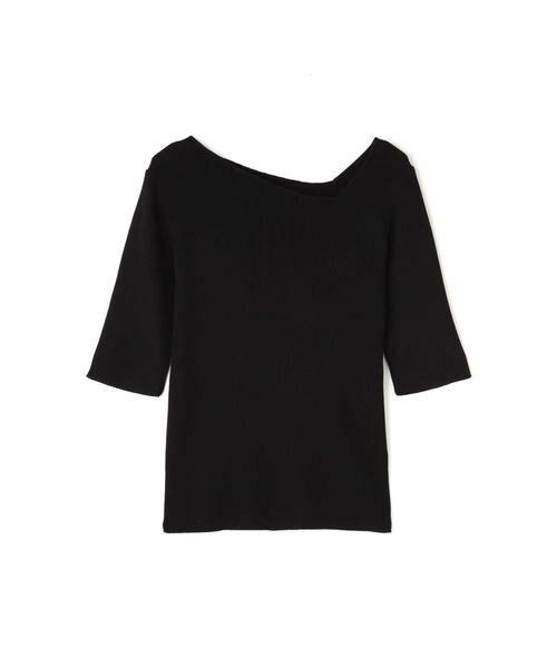 ROSE BUD / ローズ バッド ニット・セーター | アシメネックリブニット | 詳細5