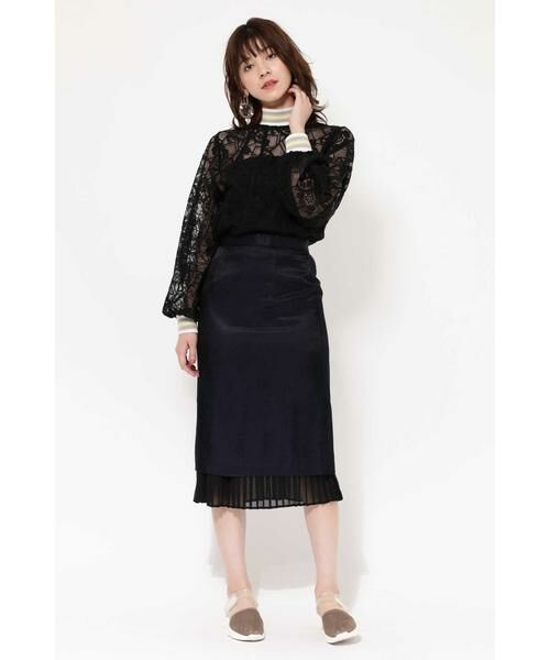ROSE BUD / ローズ バッド スカート | 裾プリーツスカート | 詳細1