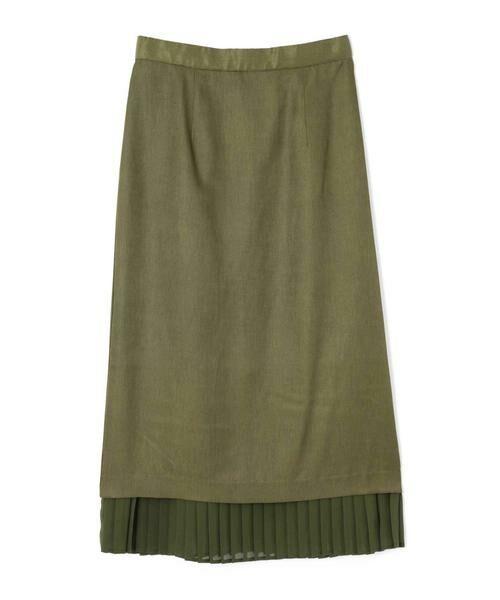 ROSE BUD / ローズ バッド スカート | 裾プリーツスカート(カーキ)