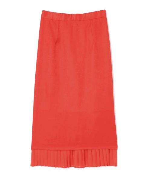 ROSE BUD / ローズ バッド スカート | 裾プリーツスカート(オレンジ)