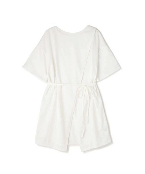 ROSE BUD / ローズ バッド カットソー | スリットチュニックTシャツ(ホワイト)