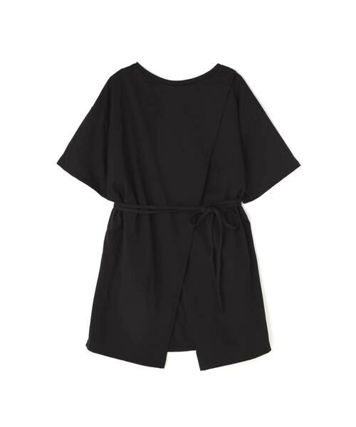 ROSE BUD / ローズ バッド カットソー | スリットチュニックTシャツ(ブラック)