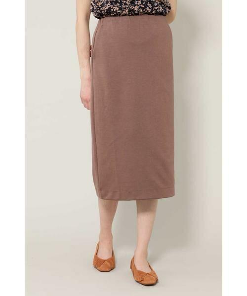 ROSE BUD / ローズ バッド スカート | カットソータイトスカート(ブラウン)