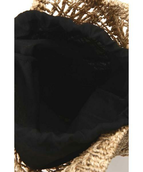 ROSE BUD / ローズ バッド ショルダーバッグ | 異素材ミックスかごバッグ | 詳細7