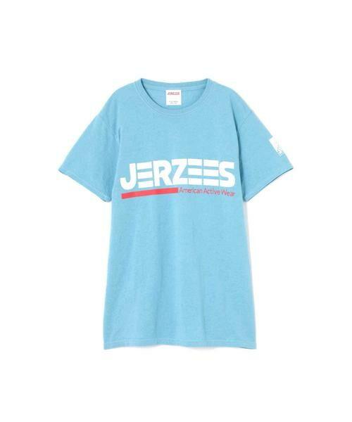 ROSE BUD / ローズ バッド カットソー | [6月号sweet掲載 7月号mina掲載]JERZEESロゴTシャツ(ブルー)
