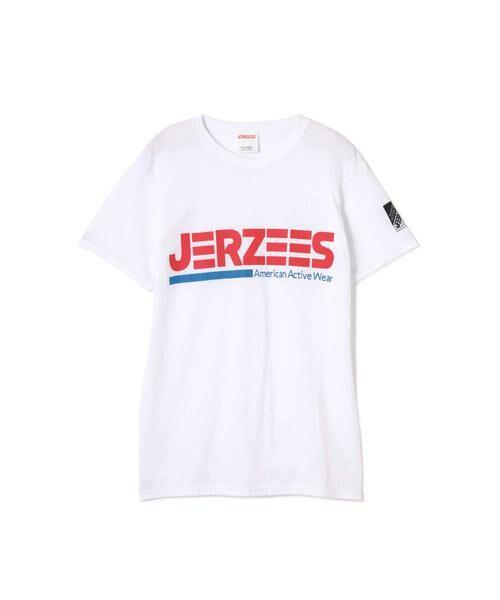 ROSE BUD / ローズ バッド カットソー | [6月号sweet掲載 7月号mina掲載]JERZEESロゴTシャツ(ホワイト)