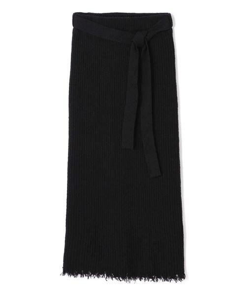 ROSE BUD / ローズ バッド スカート | リブニットスカート(ブラック)