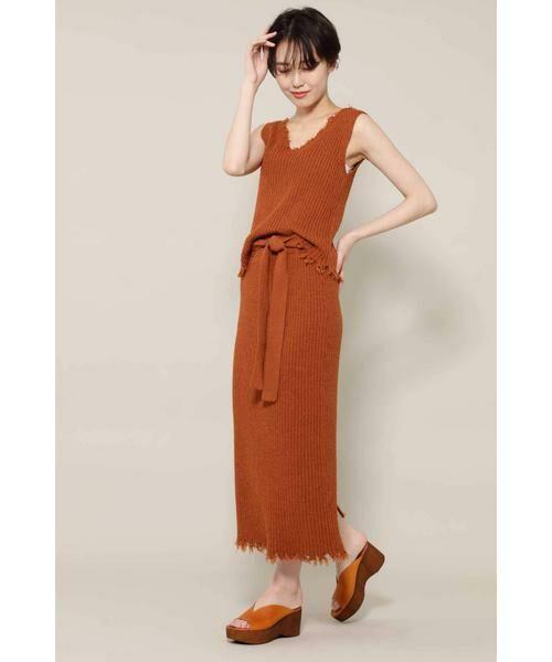 ROSE BUD / ローズ バッド スカート | リブニットスカート | 詳細6