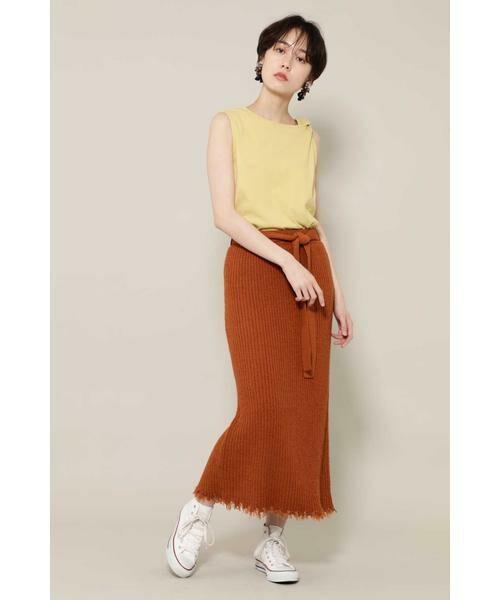 ROSE BUD / ローズ バッド スカート | リブニットスカート | 詳細7