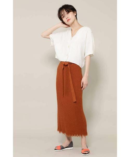 ROSE BUD / ローズ バッド スカート | リブニットスカート | 詳細8