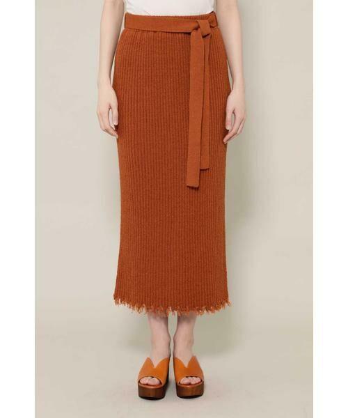 ROSE BUD / ローズ バッド スカート | リブニットスカート | 詳細9