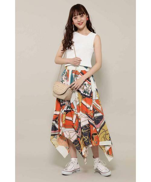 ROSE BUD / ローズ バッド スカート | スカーフプリントスカート | 詳細1