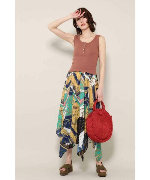 ROSE BUD / ローズ バッド スカート | スカーフプリントスカート | 詳細4