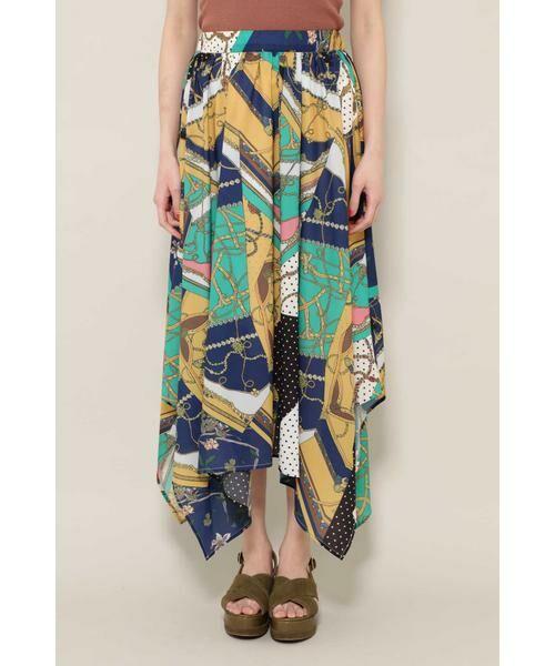 ROSE BUD / ローズ バッド スカート | スカーフプリントスカート | 詳細6