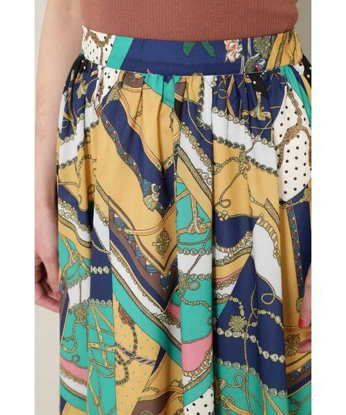 ROSE BUD / ローズ バッド スカート | スカーフプリントスカート | 詳細9