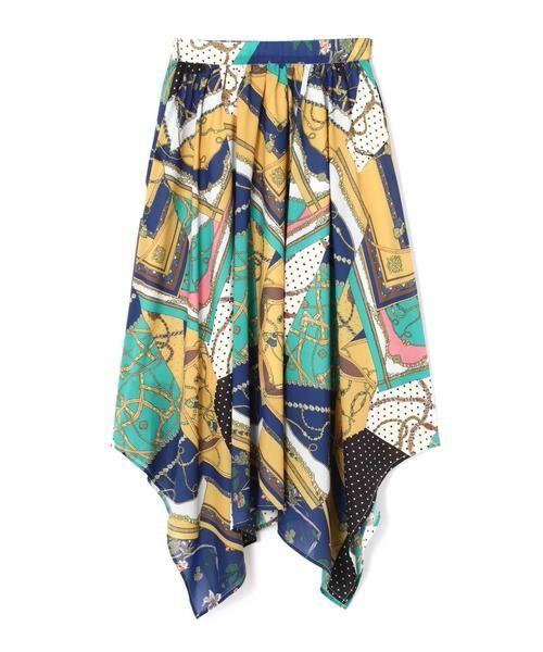 ROSE BUD / ローズ バッド スカート | スカーフプリントスカート | 詳細12