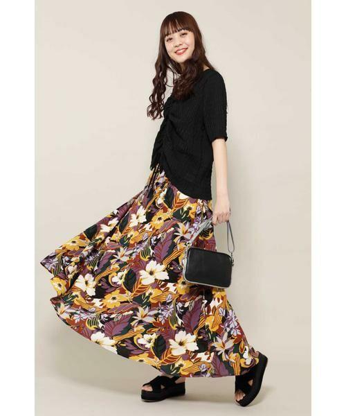 ROSE BUD / ローズ バッド スカート | リゾートプリントマキシスカート | 詳細2