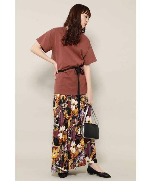 ROSE BUD / ローズ バッド スカート | リゾートプリントマキシスカート | 詳細3