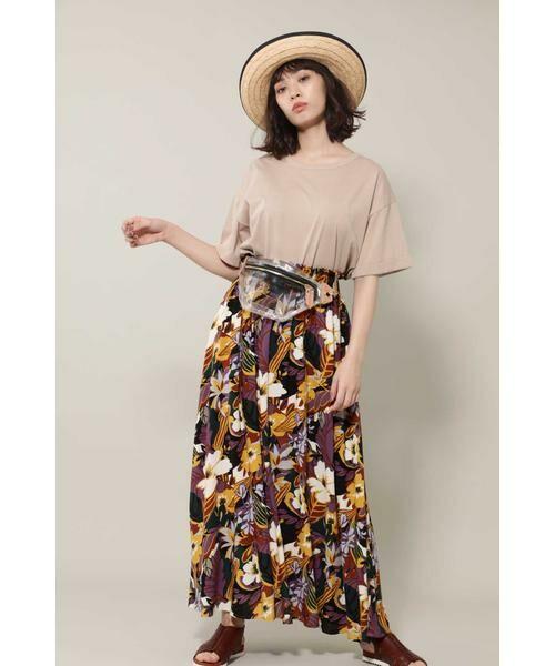 ROSE BUD / ローズ バッド スカート | リゾートプリントマキシスカート | 詳細4
