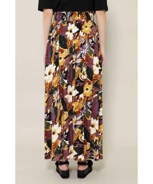 ROSE BUD / ローズ バッド スカート | リゾートプリントマキシスカート | 詳細7