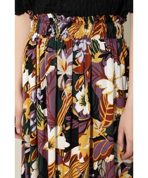 ROSE BUD / ローズ バッド スカート | リゾートプリントマキシスカート | 詳細8