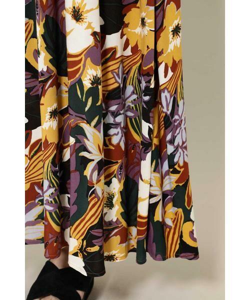 ROSE BUD / ローズ バッド スカート | リゾートプリントマキシスカート | 詳細9