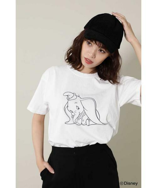 ROSE BUD / ローズ バッド カットソー | JERZEES ディズニーキャラクターTシャツ(ホワイト)