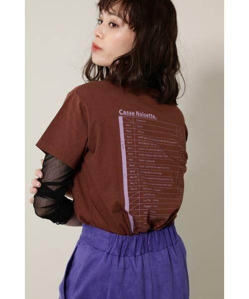 ROSE BUD / ローズ バッド カットソー | バレエプリントTシャツ | 詳細12