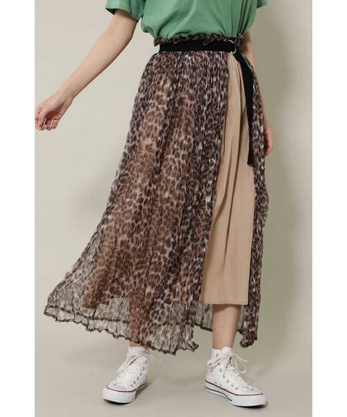 ROSE BUD / ローズ バッド スカート | チュールスカート(ブラウン)