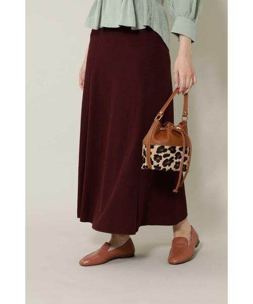 ROSE BUD / ローズ バッド スカート | ワッフルナロースカート(ブラウン)