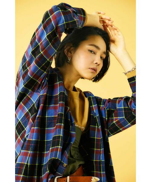 ROSE BUD / ローズ バッド シャツ・ブラウス | バックボタンビッグシャツ | 詳細1