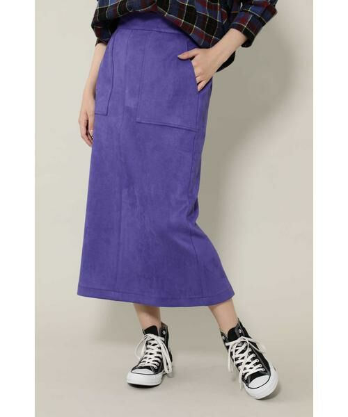 ROSE BUD / ローズ バッド スカート | ナローシルエットスカート(パープル)
