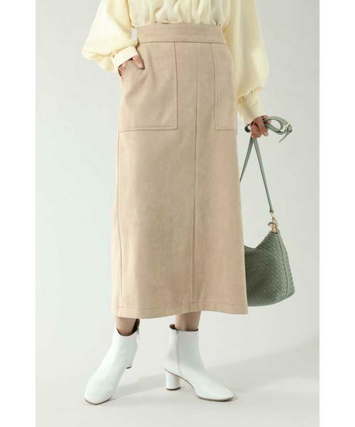 ROSE BUD / ローズ バッド スカート | ナローシルエットスカート(ベージュ)