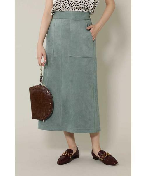 ROSE BUD / ローズ バッド スカート | ナローシルエットスカート(グリーン)